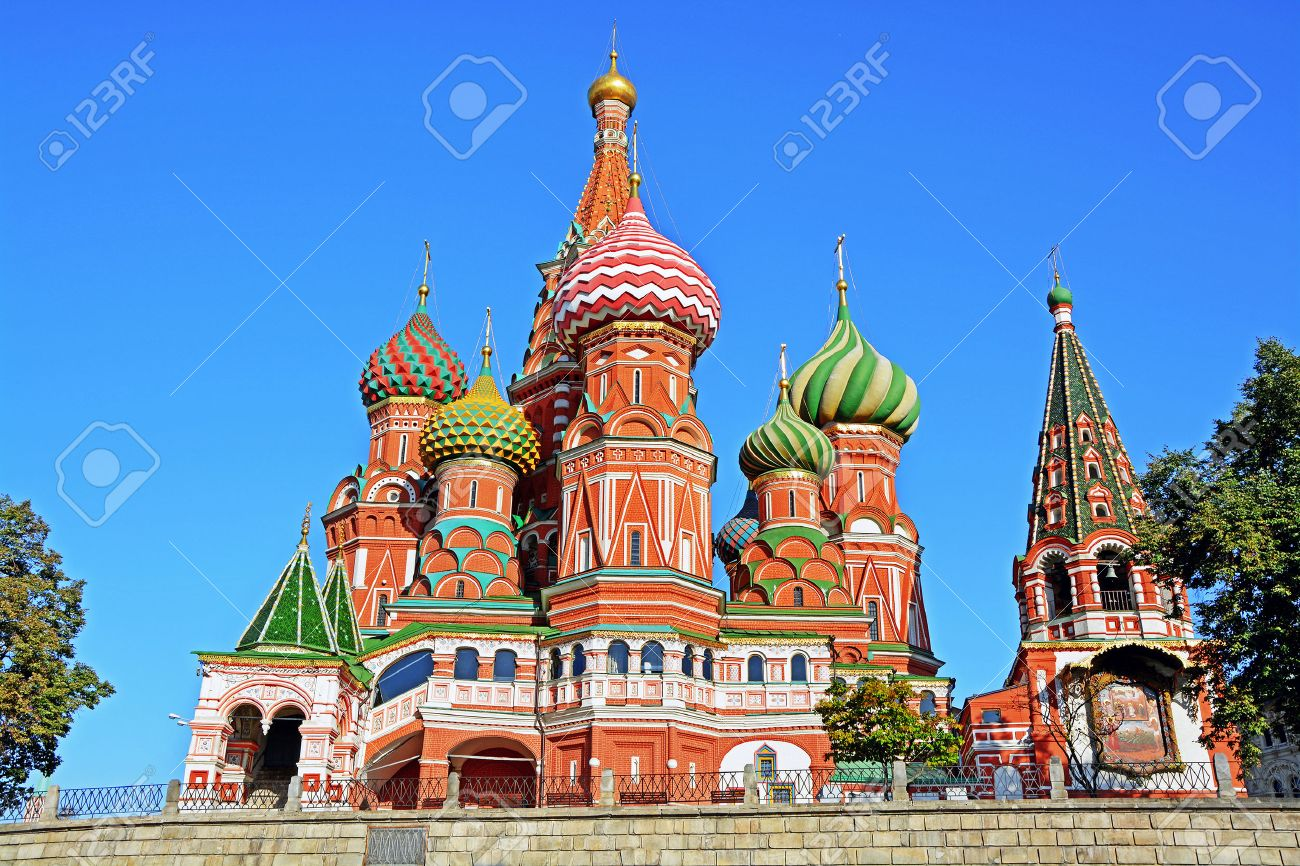 Saint Basil\u0027s Cathedral In Red Square, Moscow, Russia. Stock Photo ...
