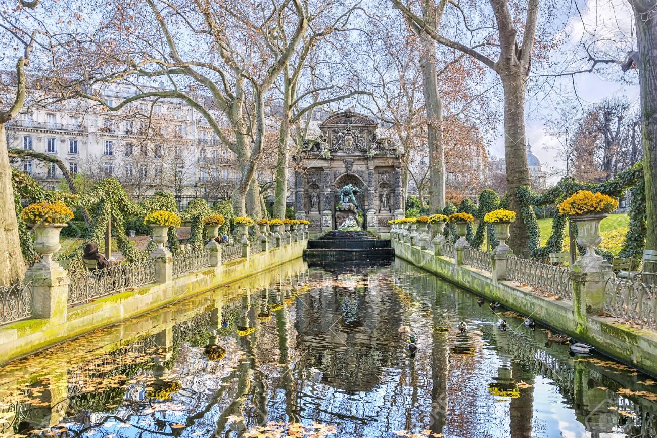 Medici Fountain In The Luxembourg Garden Jardin Du Luxembourg