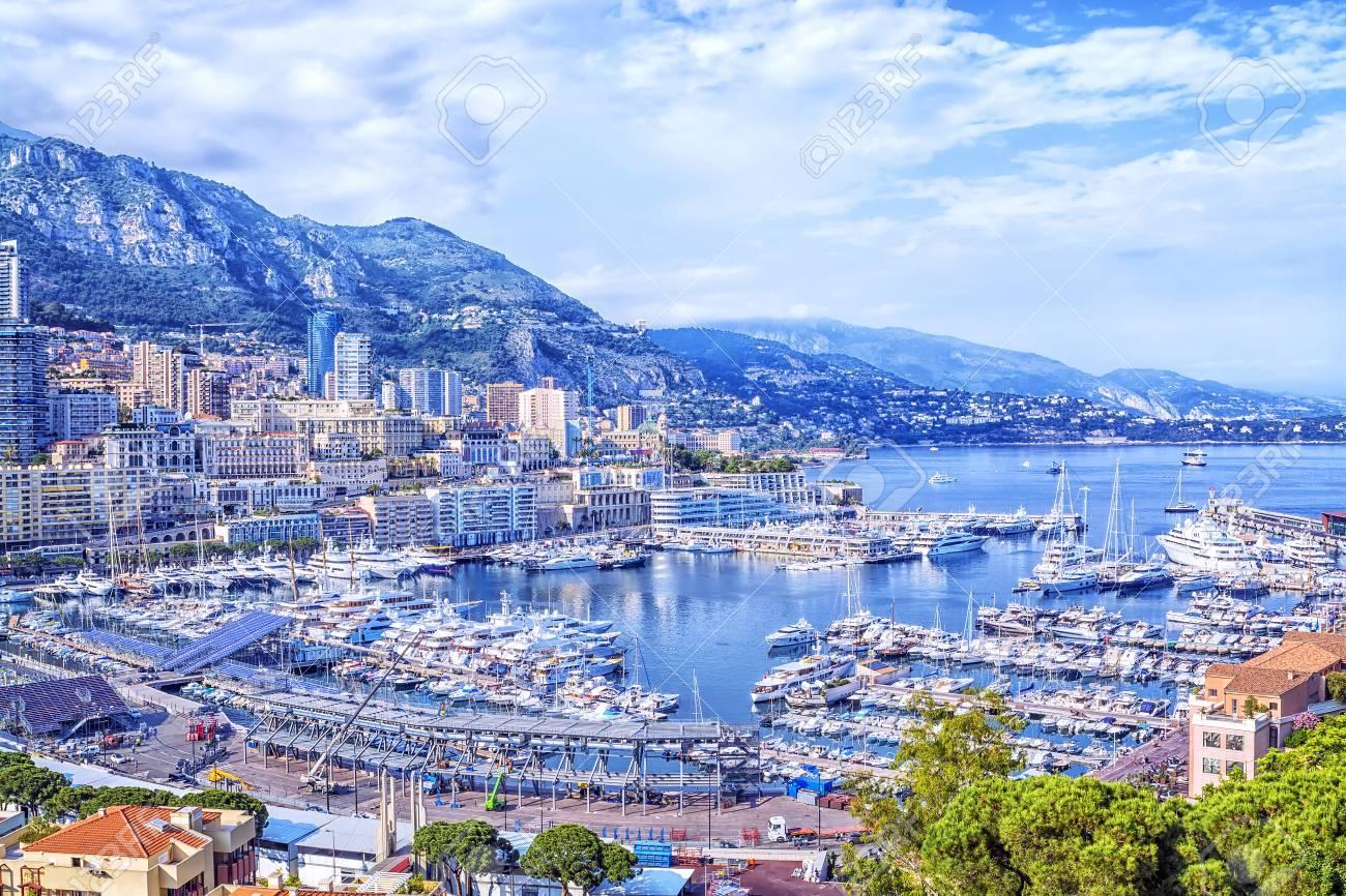 Cote D Azur Monte Carlo Beautiful Panoramic Aerial View Of
