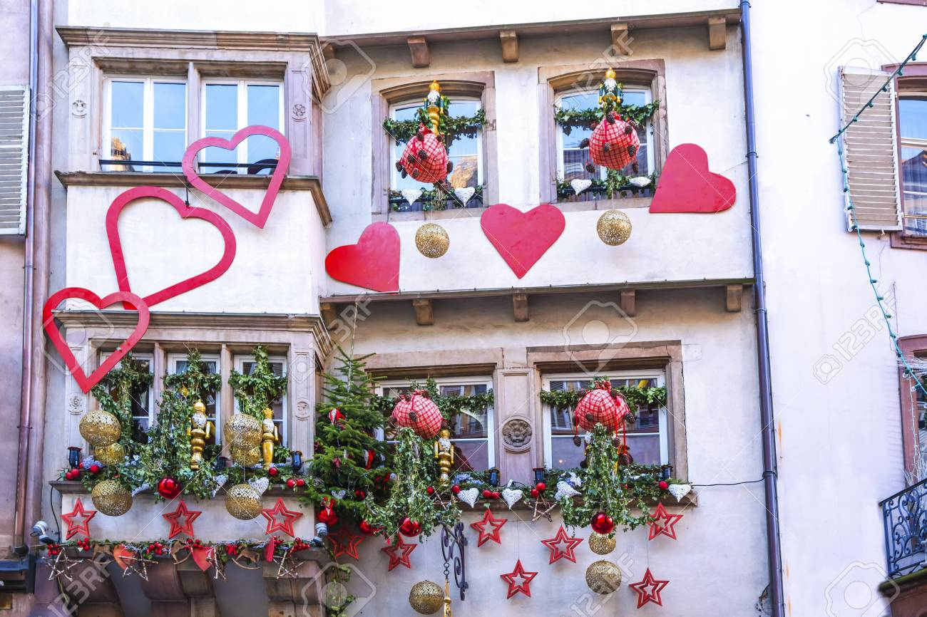 Strasbourg Alsace France 12 Decembre 2016 Facades Et Fenetres