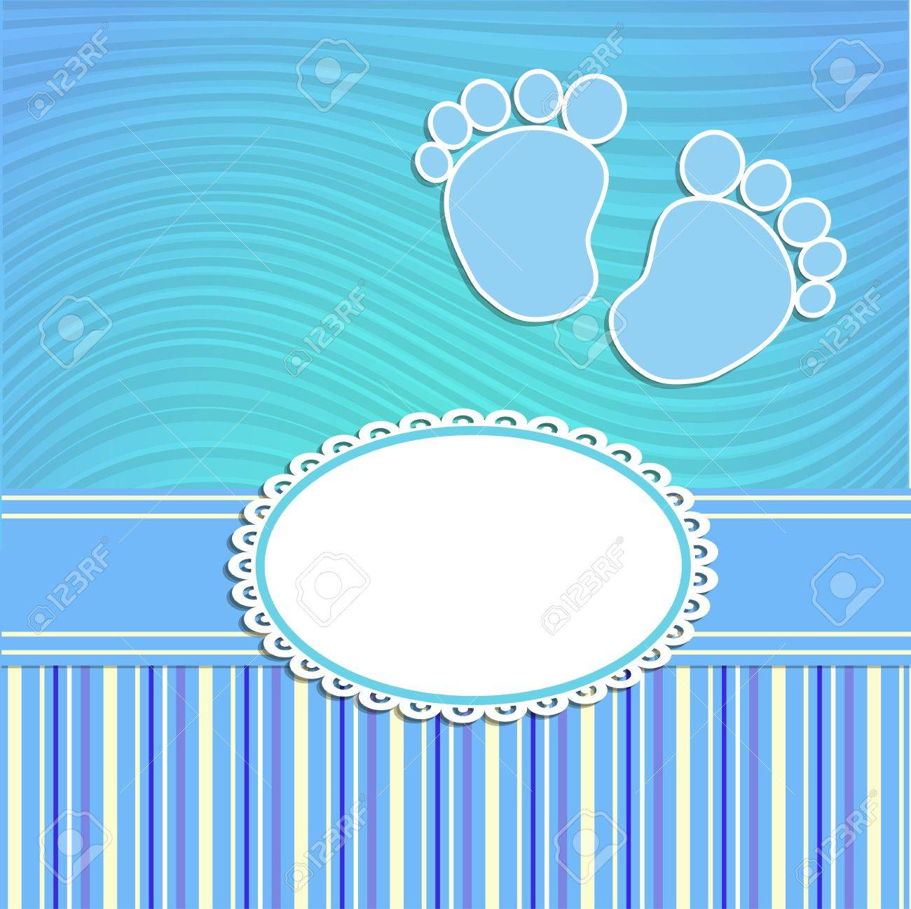 Card for newborn in scrabbook style or baby shower invitation - 22098122
