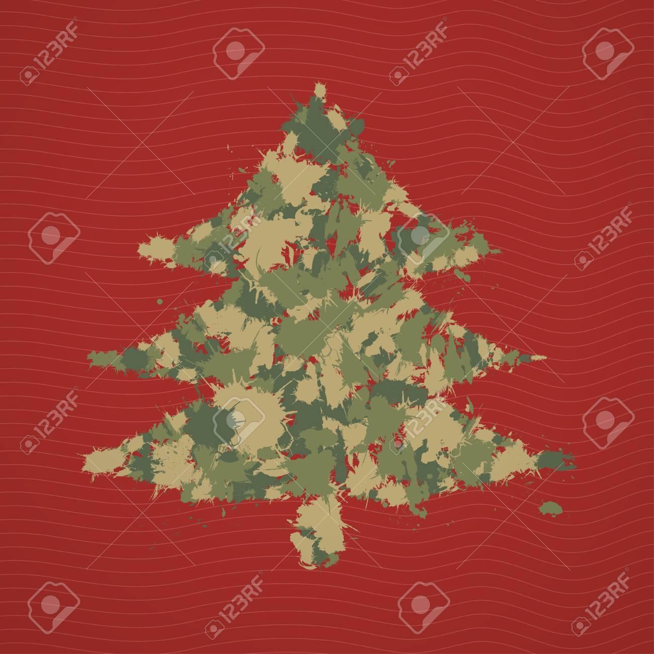 Vettoriale Priorità Bassa Di Buon Natale Con Carta Di Albero Di