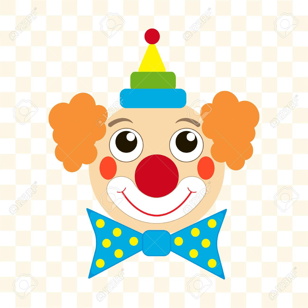 happy clown face royalty free cliparts vectors and stock rh 123rf com evil clown clipart free free clown clipart images