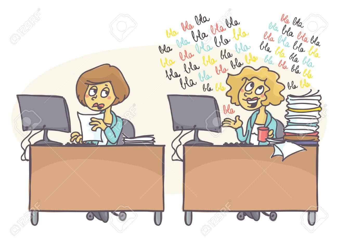 Weibliche Kollegen Im Buro Man Arbeitet Hart Wahrend Andere