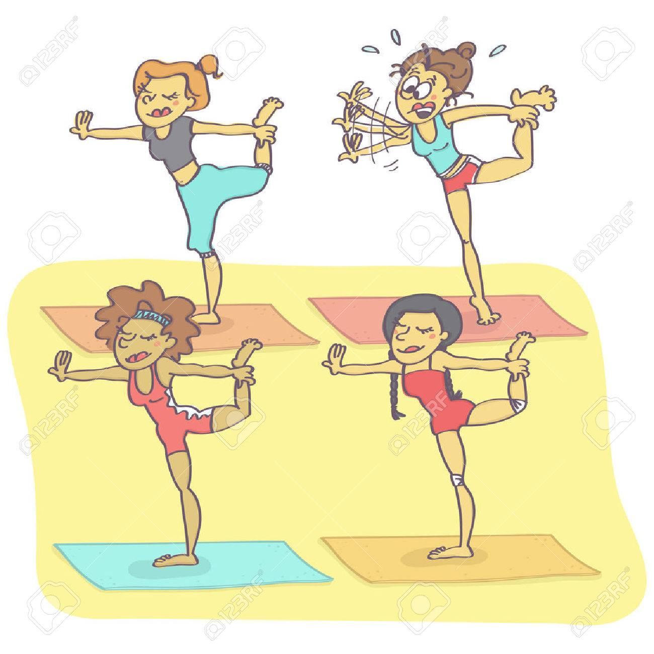 Funny Yoga Cartoon Images Funny Png