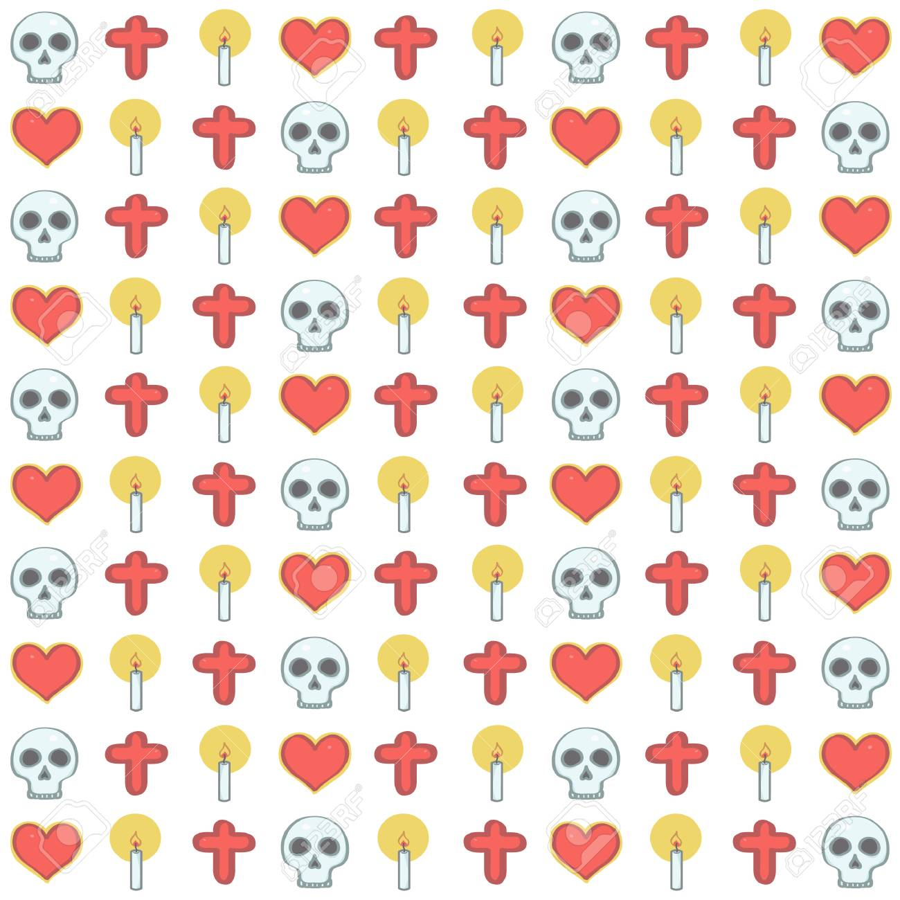 0826432c85f Colorful vector background pattern in Mexican Halloween style..