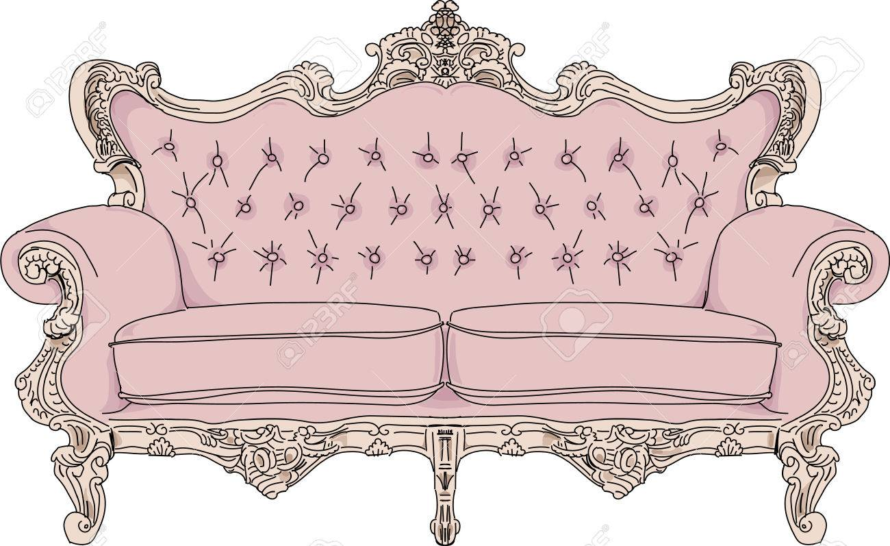 Vintage Sofa Royalty Free Cliparts Vectors And Stock Illustration