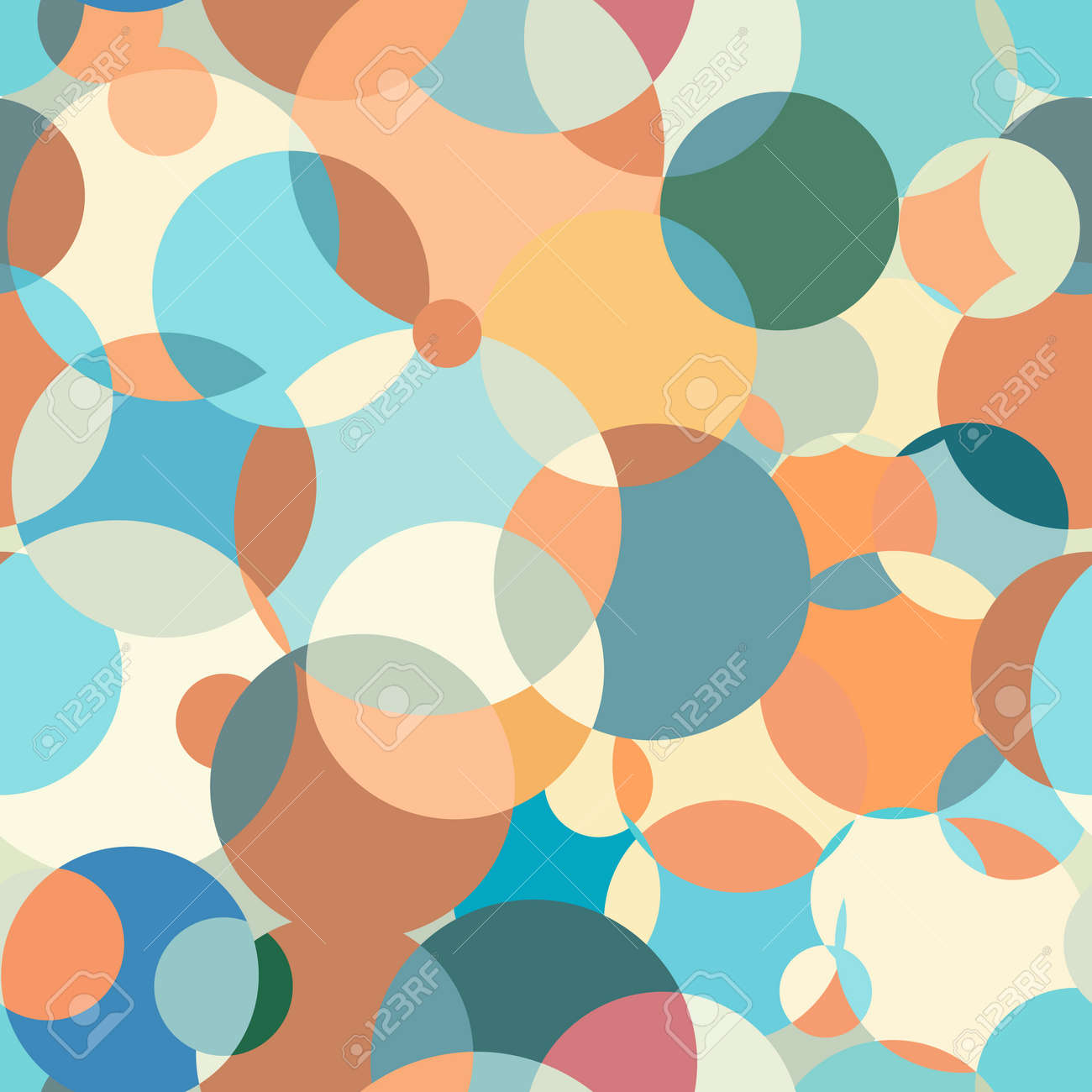 Circles pattern abstraction. Contemporary color palette. Great background for a screensaver. Interesting background for fabric. Circular colored spots. Suitable for any printed matter. - 151799700