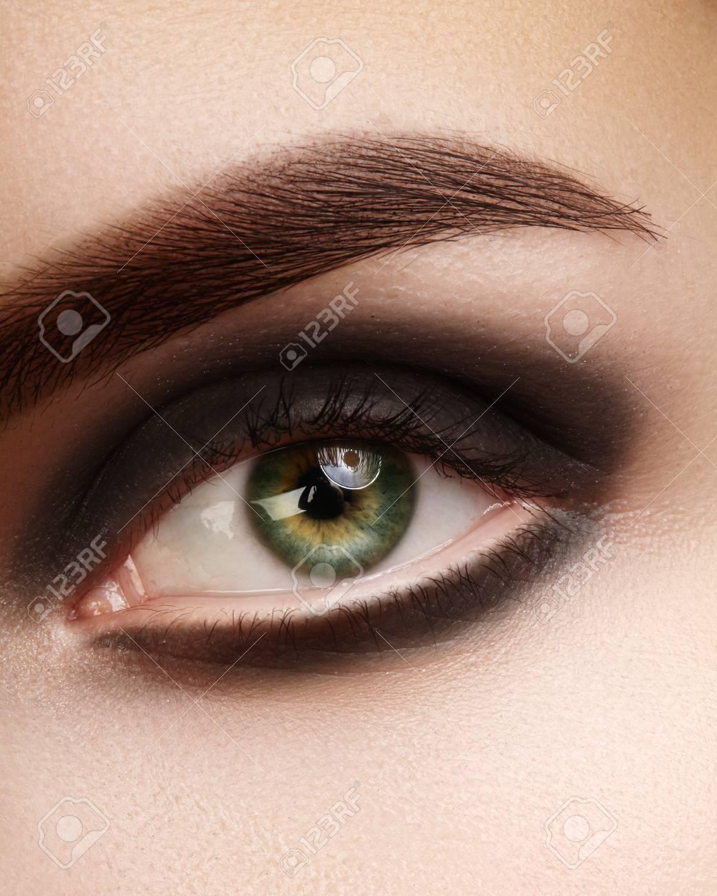 ojo negro ahumado