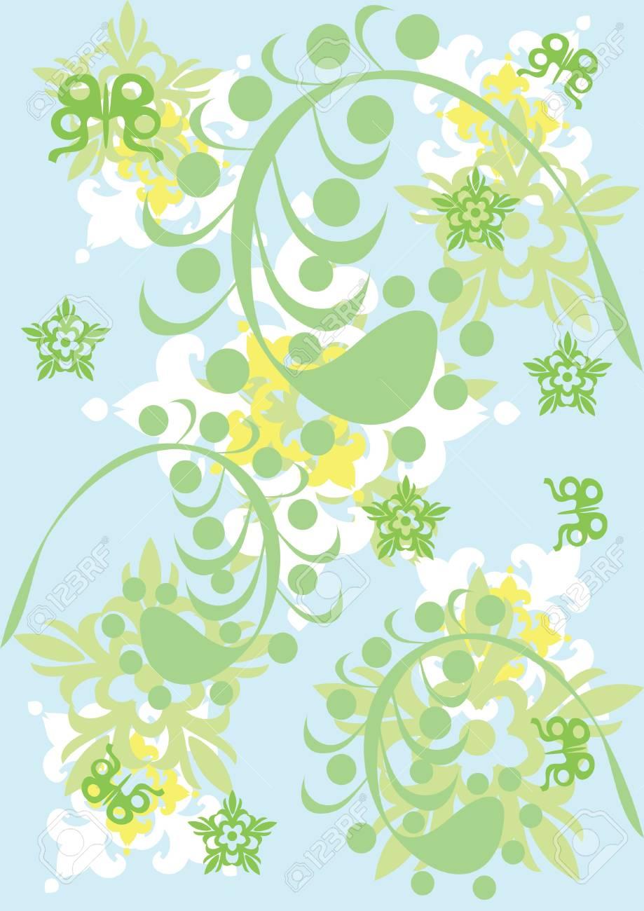 抽象的な花飾りイラストのイラスト素材ベクタ Image 10891537