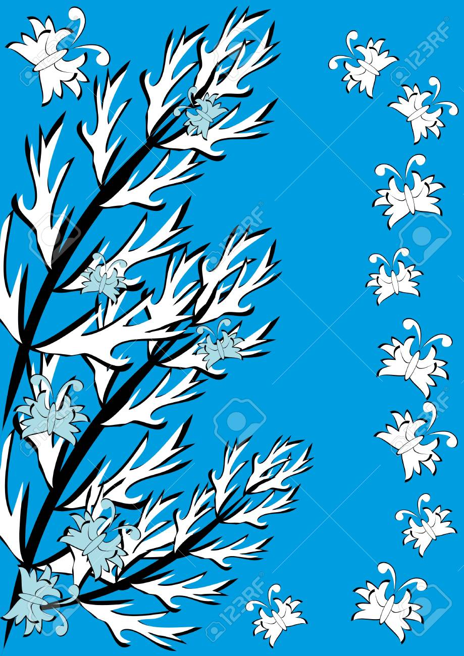 Abstract background with feathers. Illustration. Stock Vector - 10891526