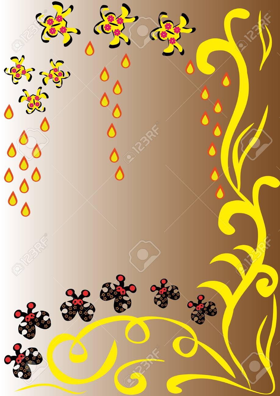 abstract background with flowers, butterflies and hearts. illustration Stock Vector - 10891748