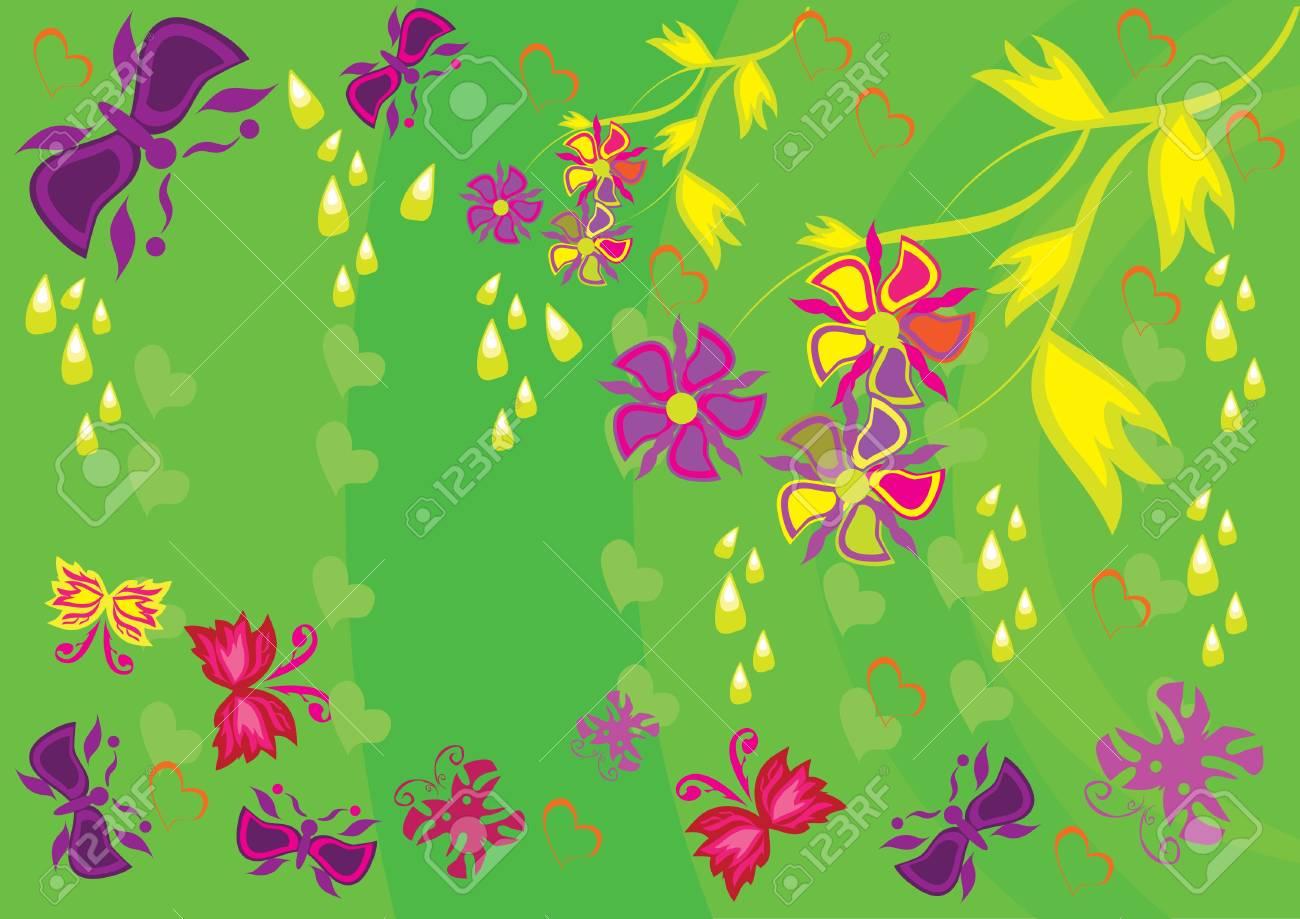 抽象的な花飾りイラストのイラスト素材ベクタ Image 10891588