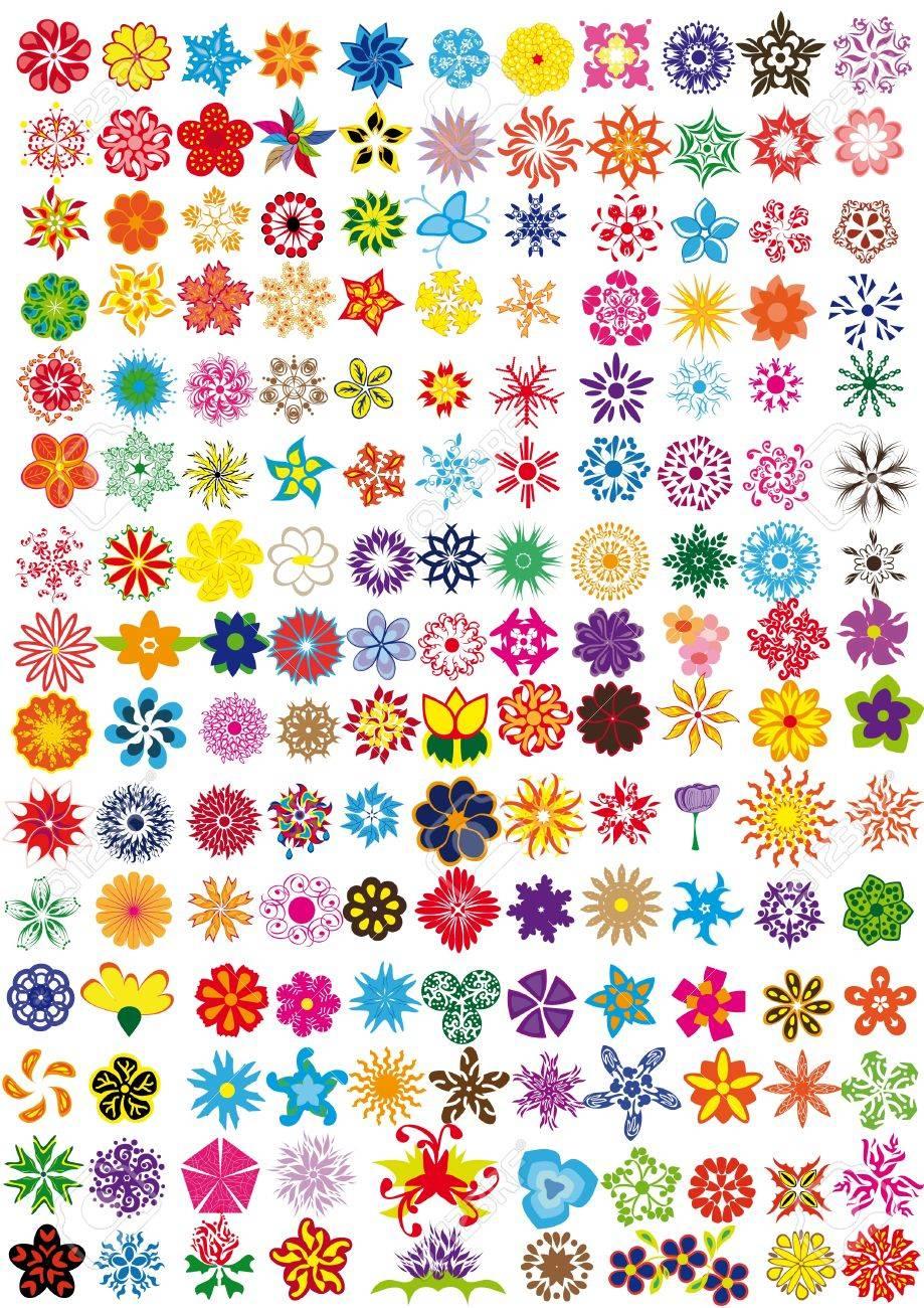 set of flowers . Illustration Stock Vector - 10891860