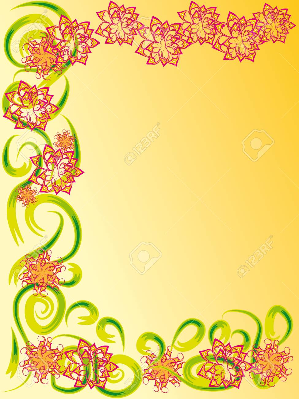 beautiful floral frame. vector illustration Stock Vector - 12436486