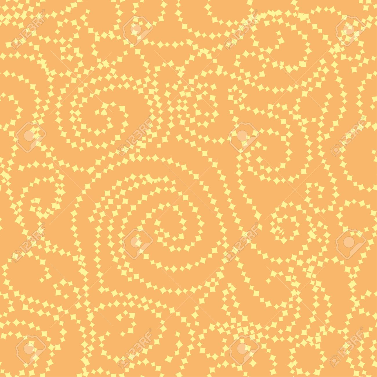 abstract gold seamless pattern with curling branches. Vector illustration Stock Vector - 14262824