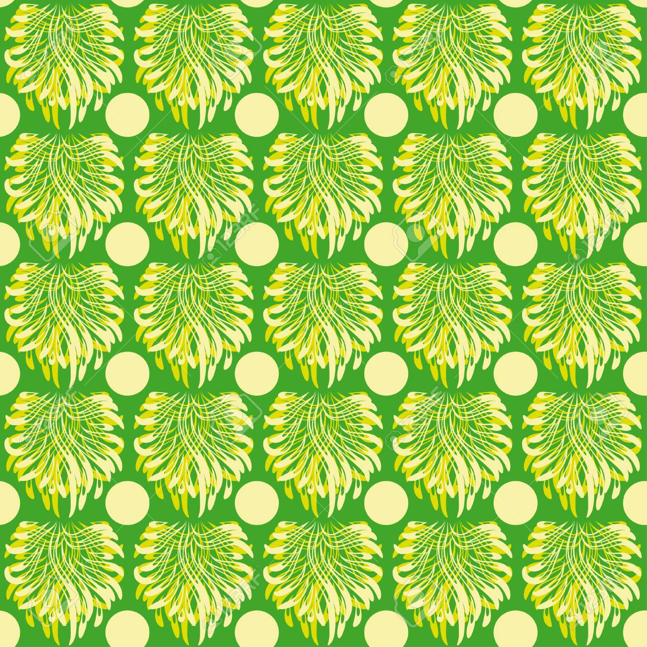 abstract seamless pattern with green elements  Vector illustration Stock Vector - 17752547