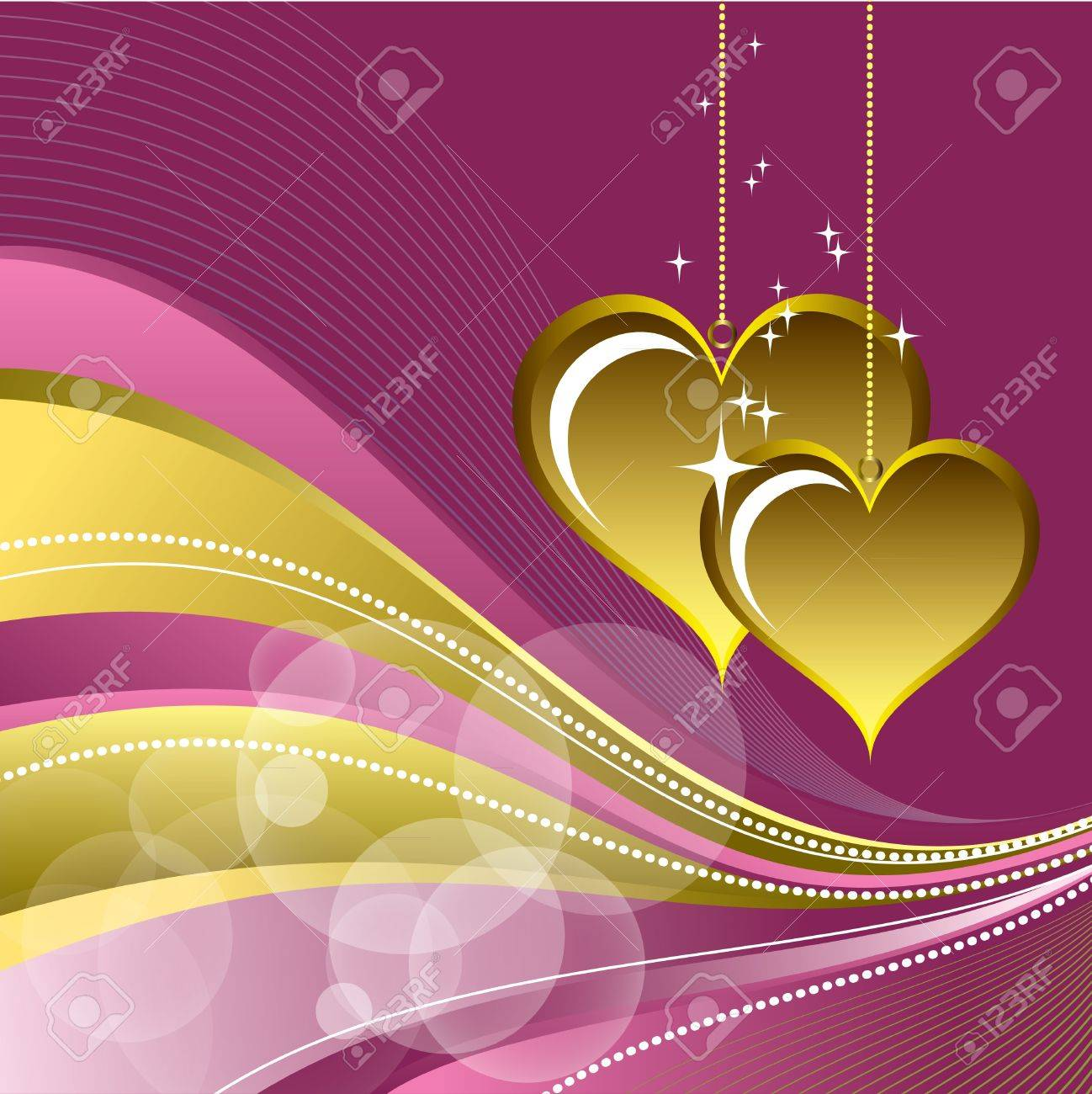 Valentine Background with Hearts. Stock Vector - 12103865