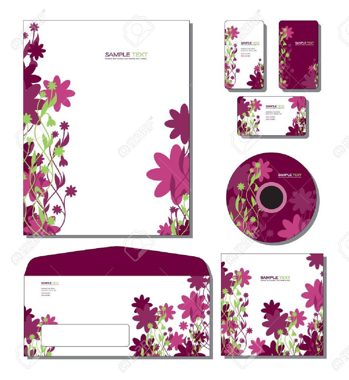Corporate Identity Template Letterhead Business And Gift Cards – Gift Card Envelope Template