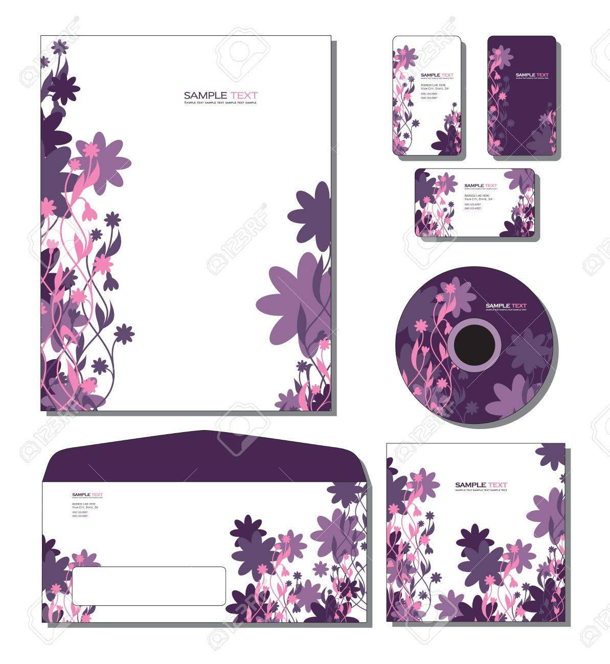 Identity System Template Letterhead Business And Gift Cards – Sample Gift Card Envelope Template