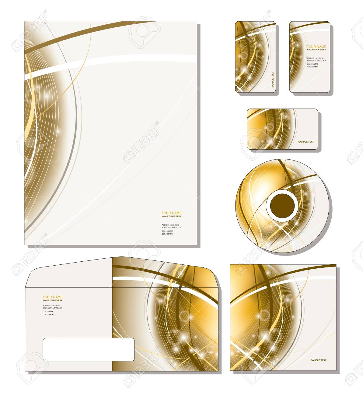 Corporate Identity Template Vector Letterhead Business And – Sample Gift Card Envelope Template
