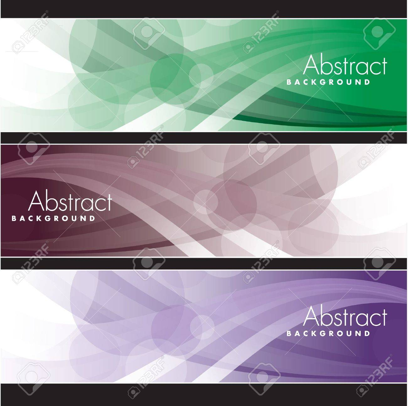 Set of Banners  Abstract Backgrounds Stock Vector - 13866036