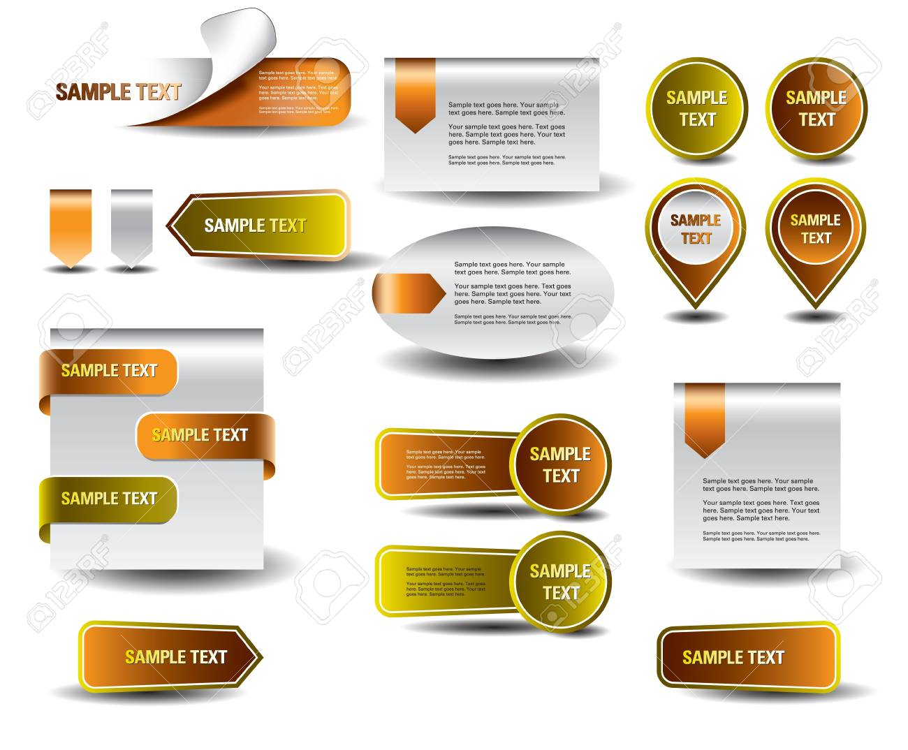 Stickers and banners set Stock Vector - 14084050