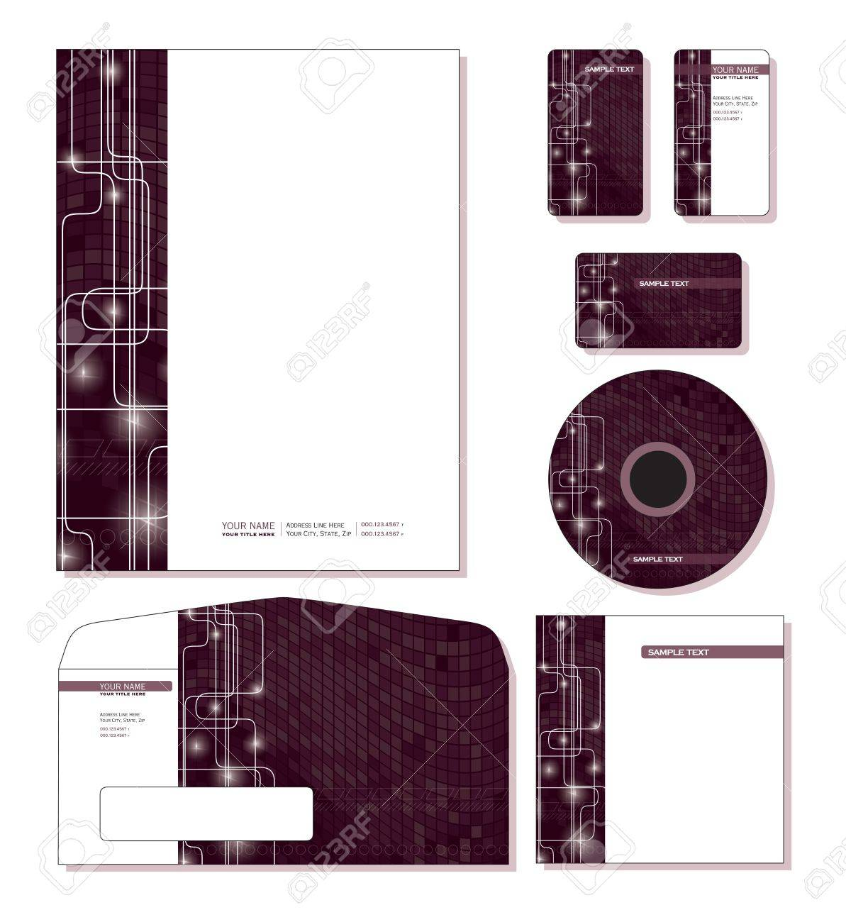 Corporate Template Letterhead Business And Gift Cards Cd – Sample Gift Card Envelope Template