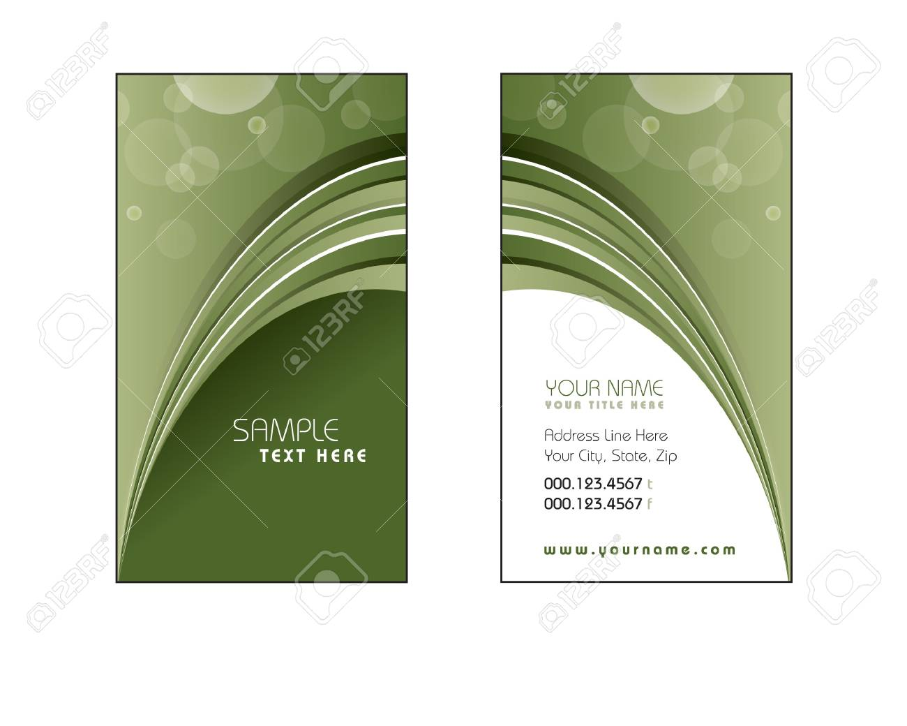 Business Card Template  Vector Eps10 Stock Vector - 14893795