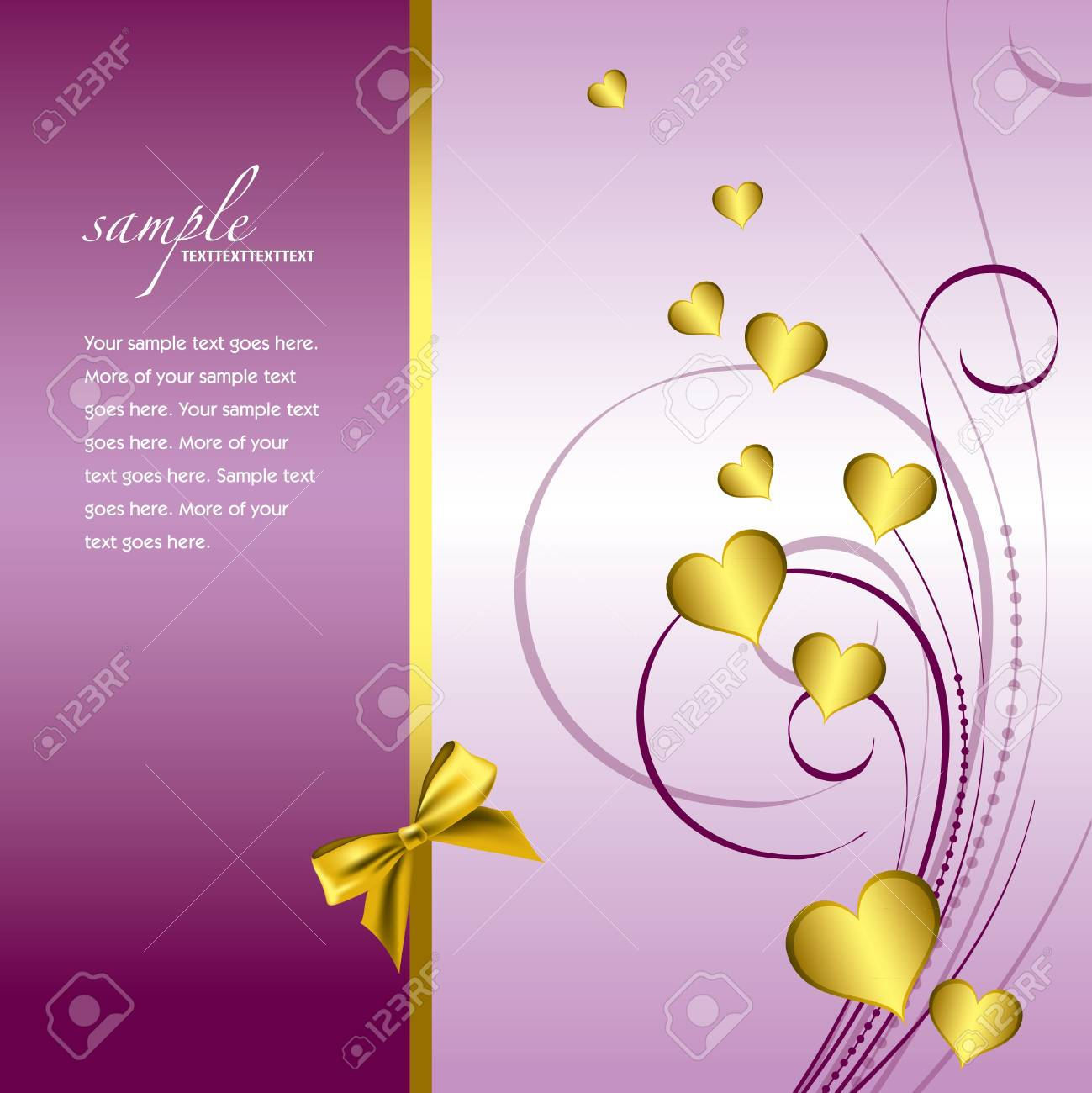 Valentines Day Background  Vector Illustration Stock Vector - 17303458