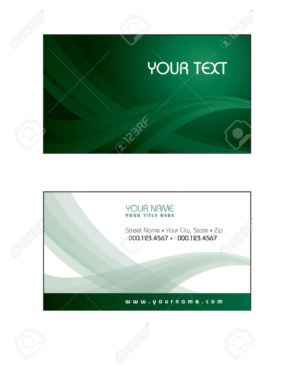Business Card Template Stock Vector - 17324979