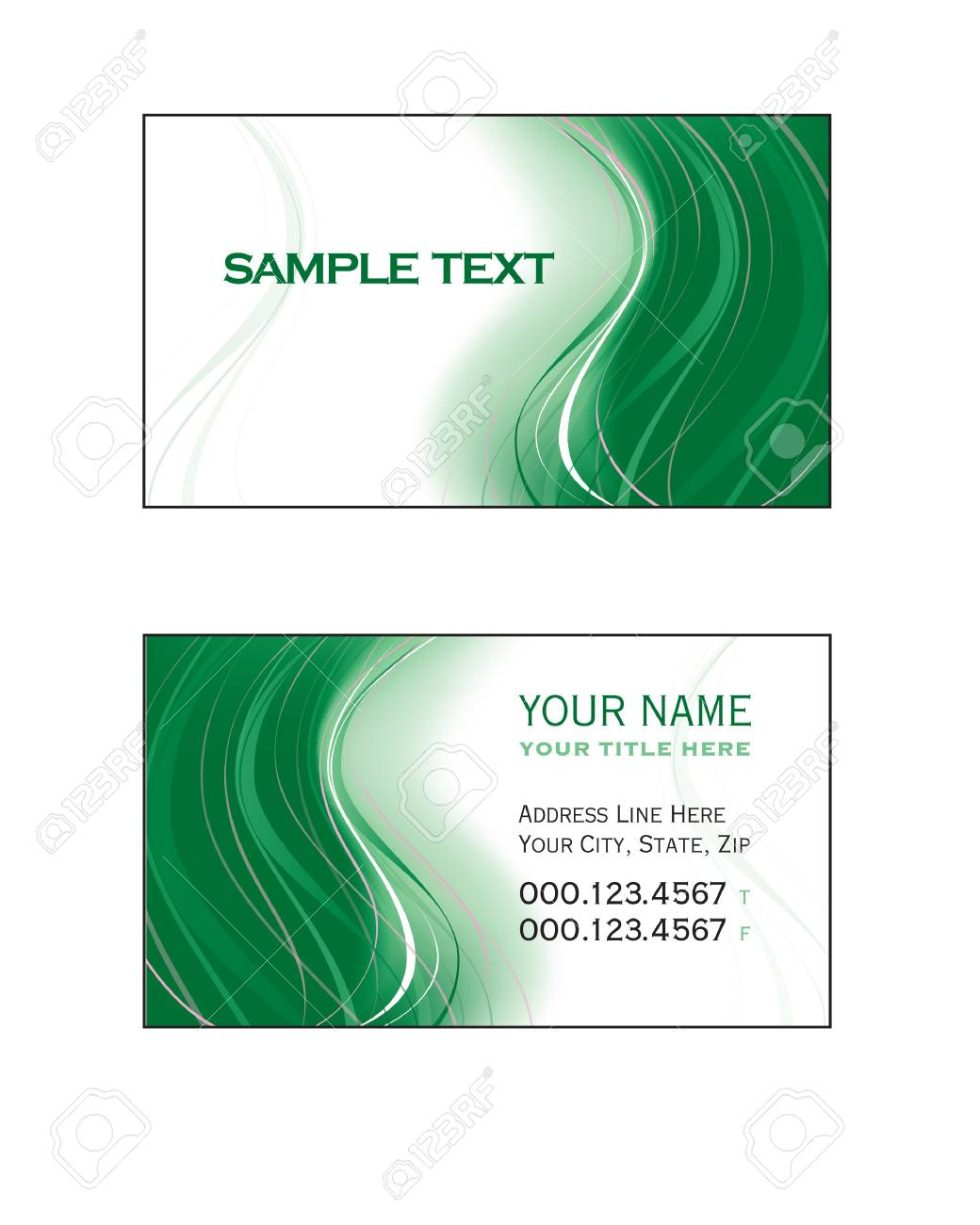 Business Card Template Stock Vector - 17324983