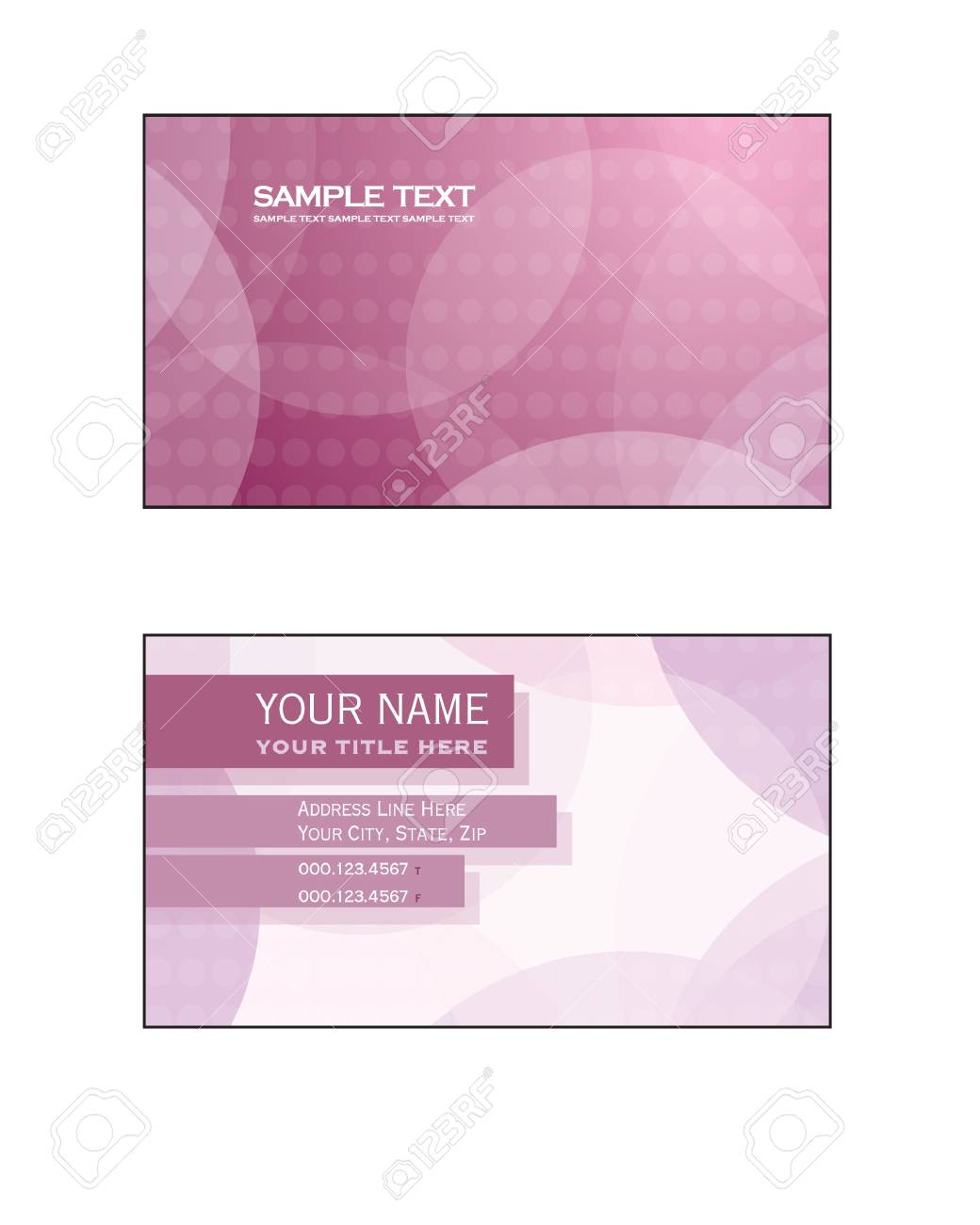 Business Card Template  Eps10 Stock Vector - 17548935