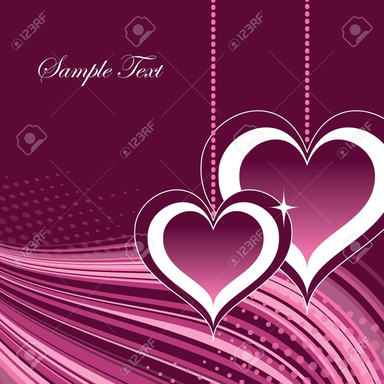 Valentines Day Background Stock Vector - 17619375