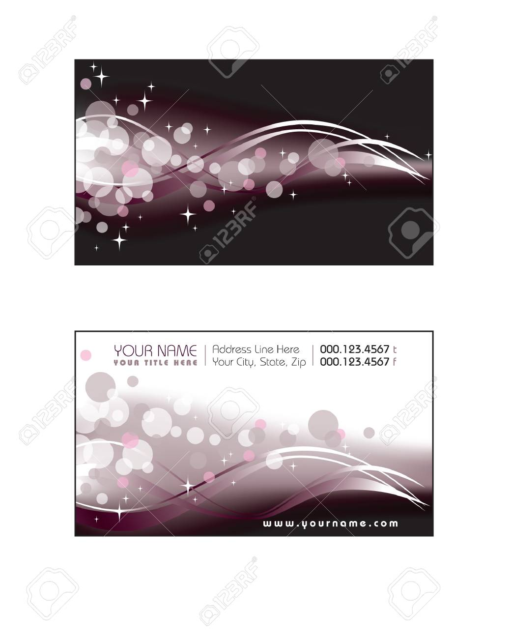 Business Card Template Stock Vector - 17619317