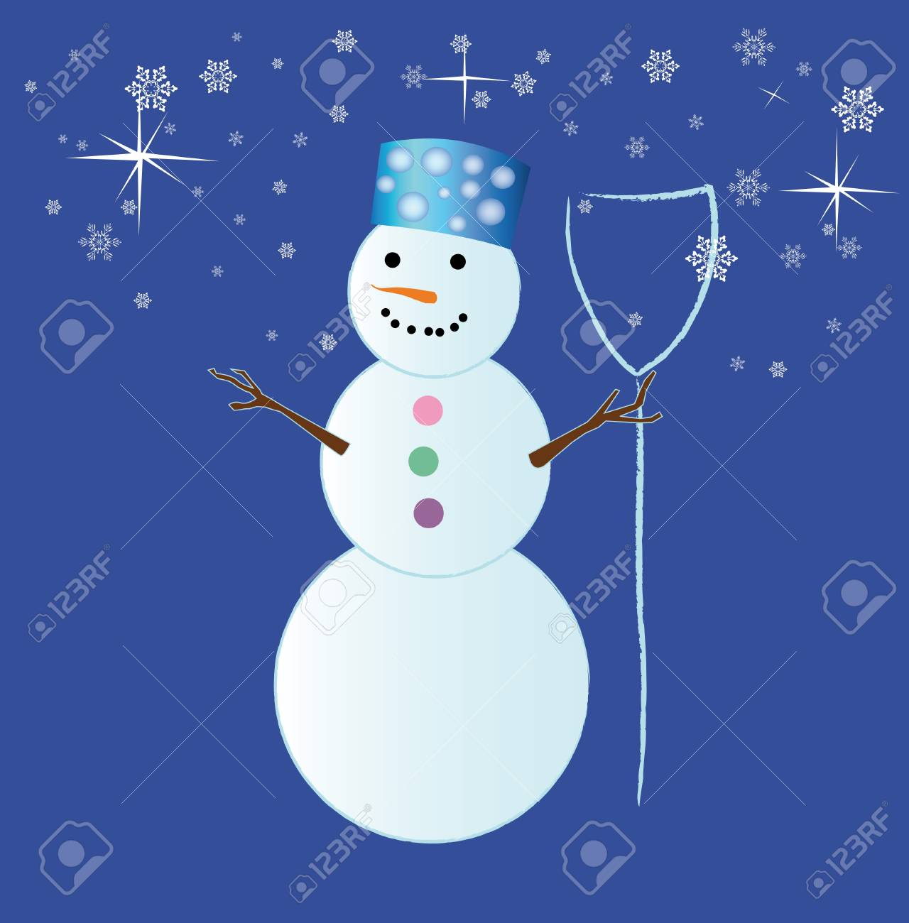 The New Year's snowman Stock Vector - 11601983