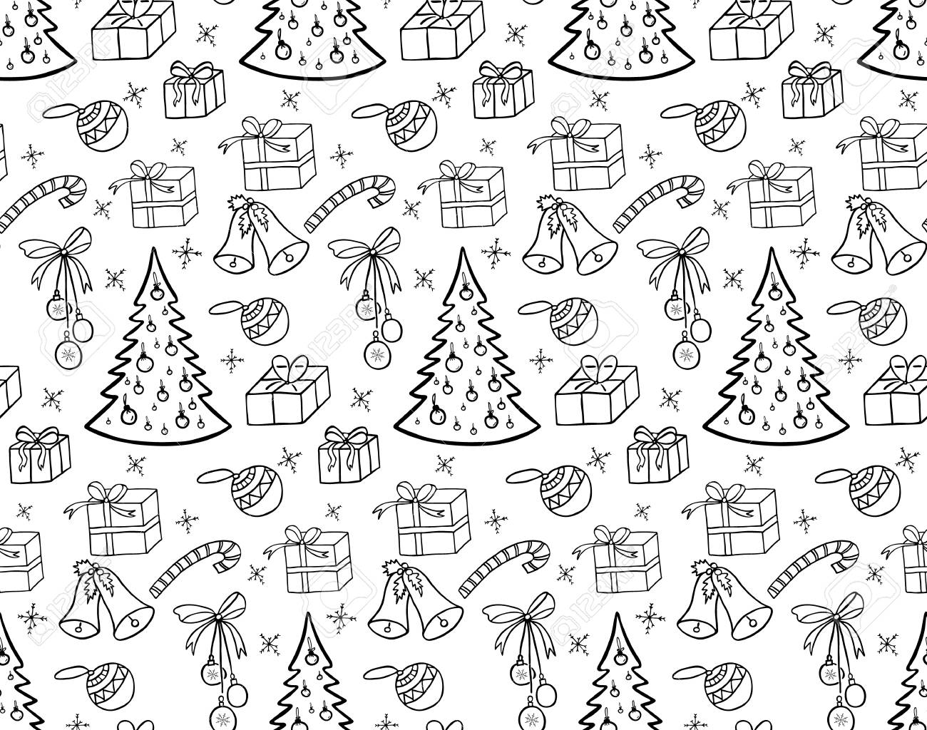 Black And White Wrapping Paper. Vector Seamless Geometric Pattern.. Royalty  Free Cliparts, Vectors, And Stock Illustration. Image 86634569.