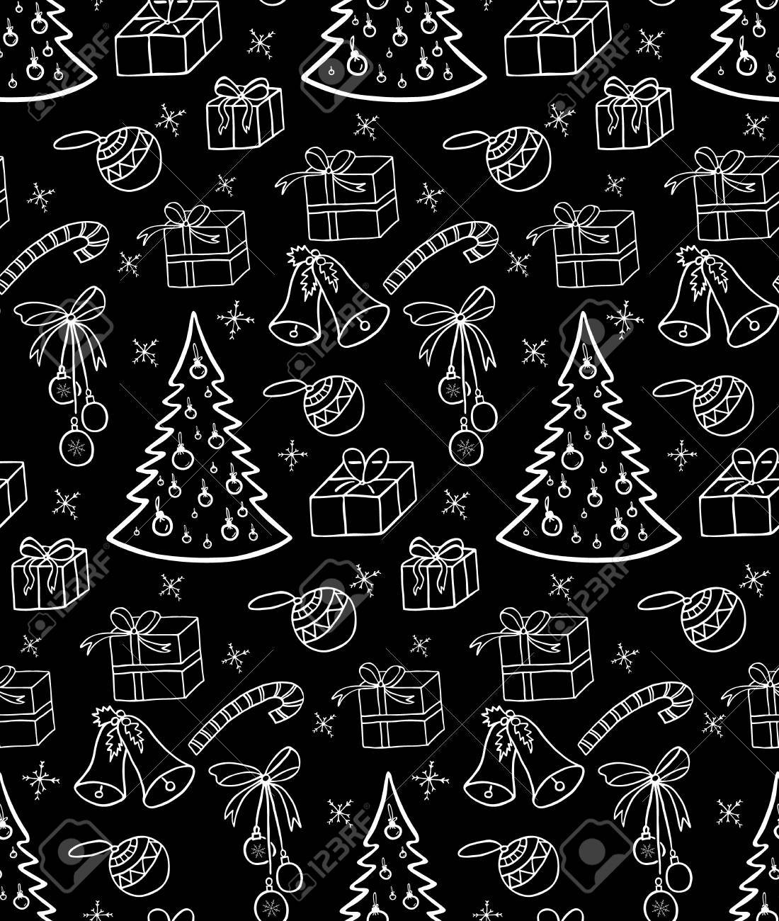 Christmas Background Illustration For A Wrapping Paper Wallpaper
