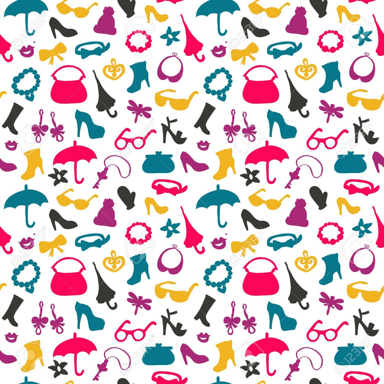 Background Of Women Accessories Textures For Wallpaper Fills