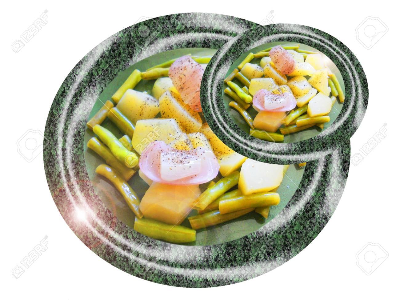 Steamed vegetables. Composition. Foto de archivo - 37570540