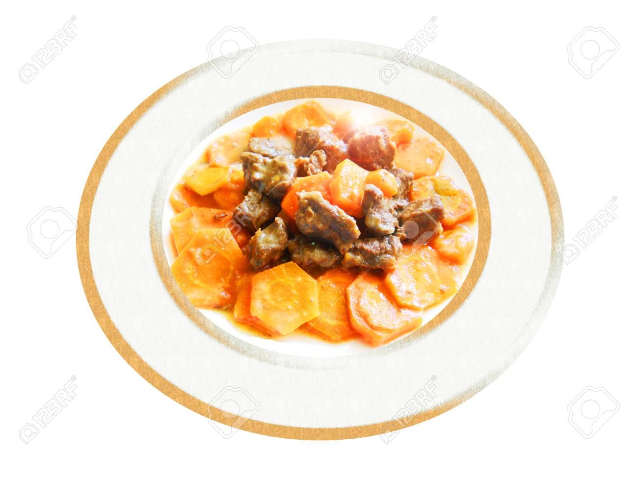 Cumplir con estofado de zanahorias. Composición. Foto de archivo - 52070987