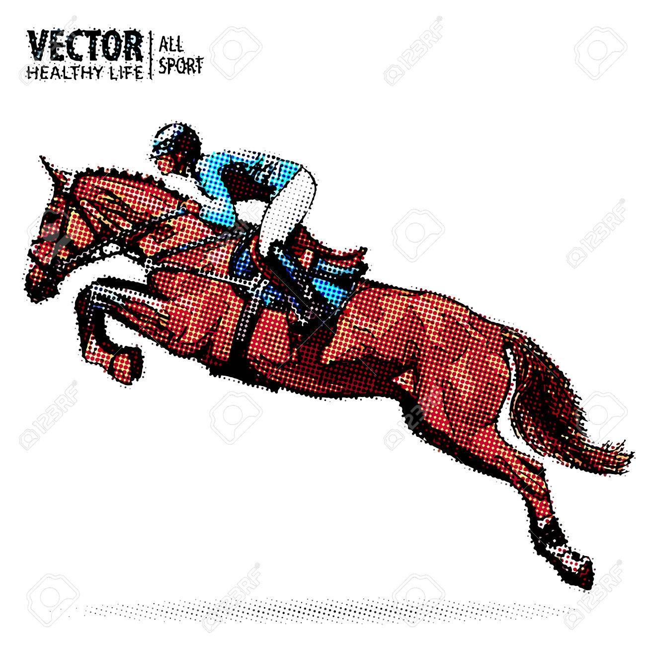 Jockey On Horse Champion Horse Riding Equestrian Sport Jockey Royalty Free Cliparts Vectors And Stock Illustration Image 80785498