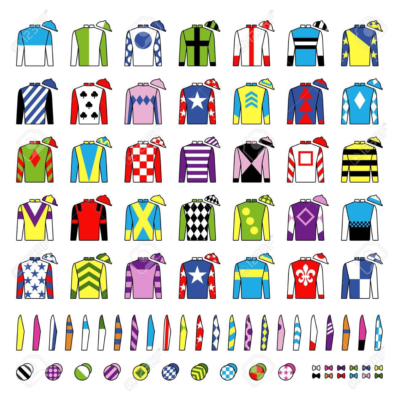 Jockey Uniform Traditional Design Jackets Silks Sleeves And Royalty Free Cliparts Vectors And Stock Illustration Image 82732560