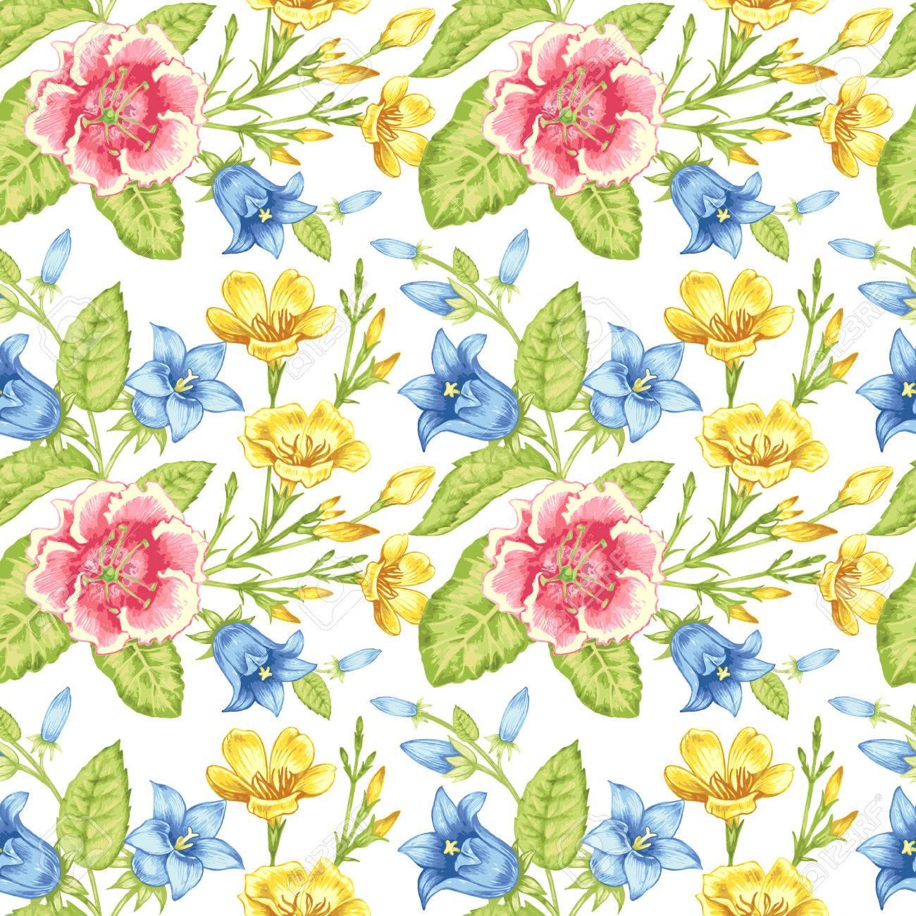Seamless Pattern Design For Fabrics Textiles Paper Wallpaper