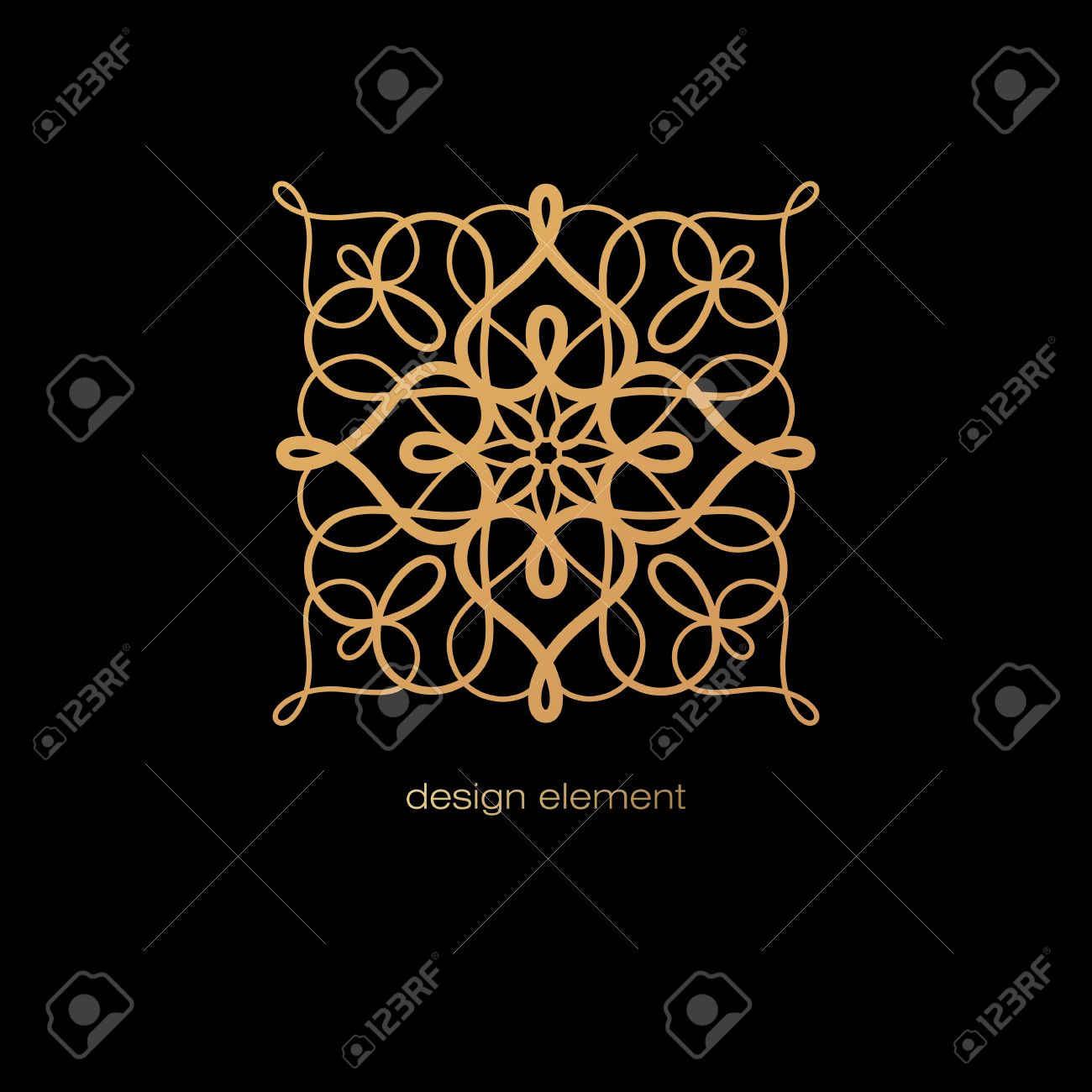 How To Make A Decorative Book Cover ~ Vector abstract decorative rosette to create different designs