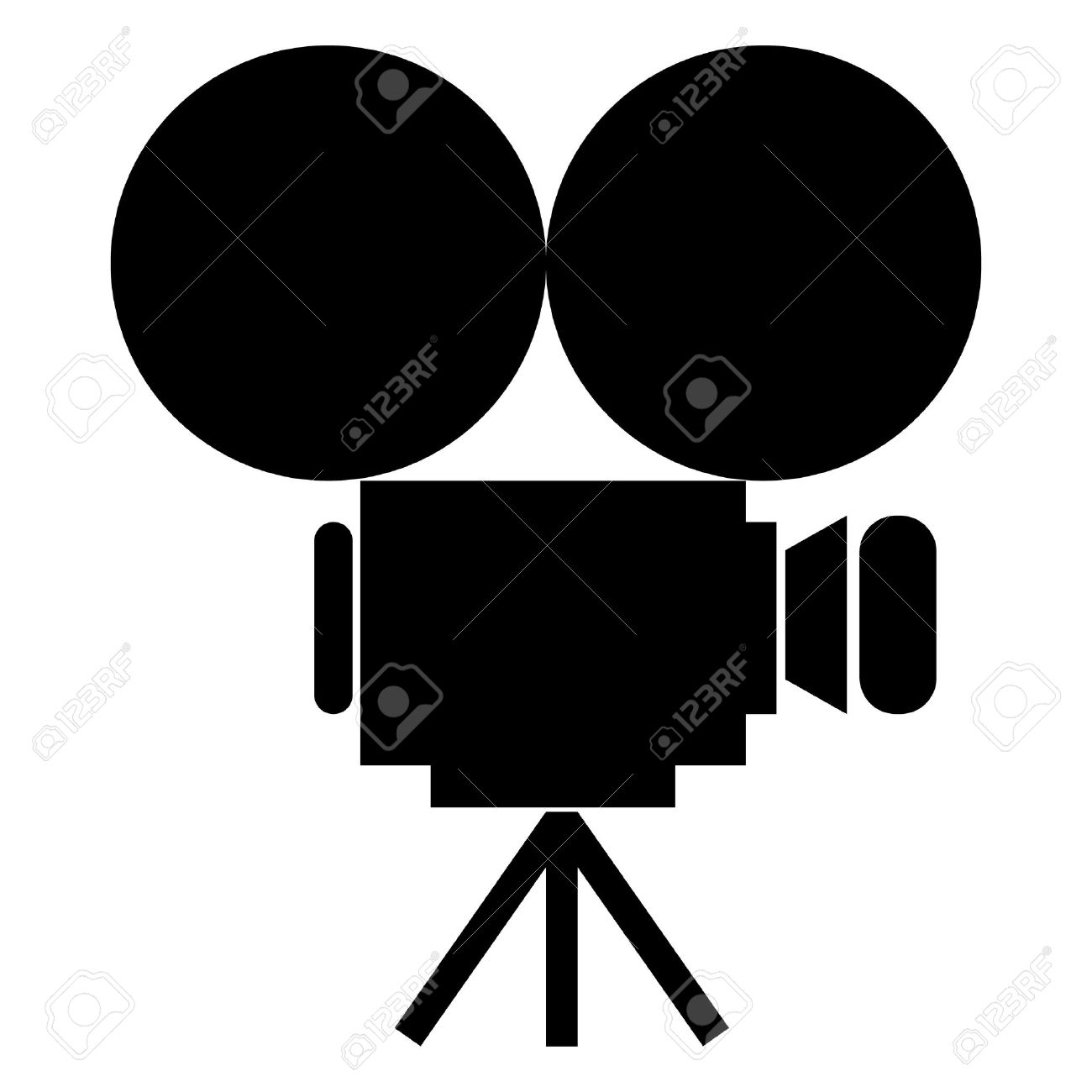 movie camera icon Stock Vector - 10287329