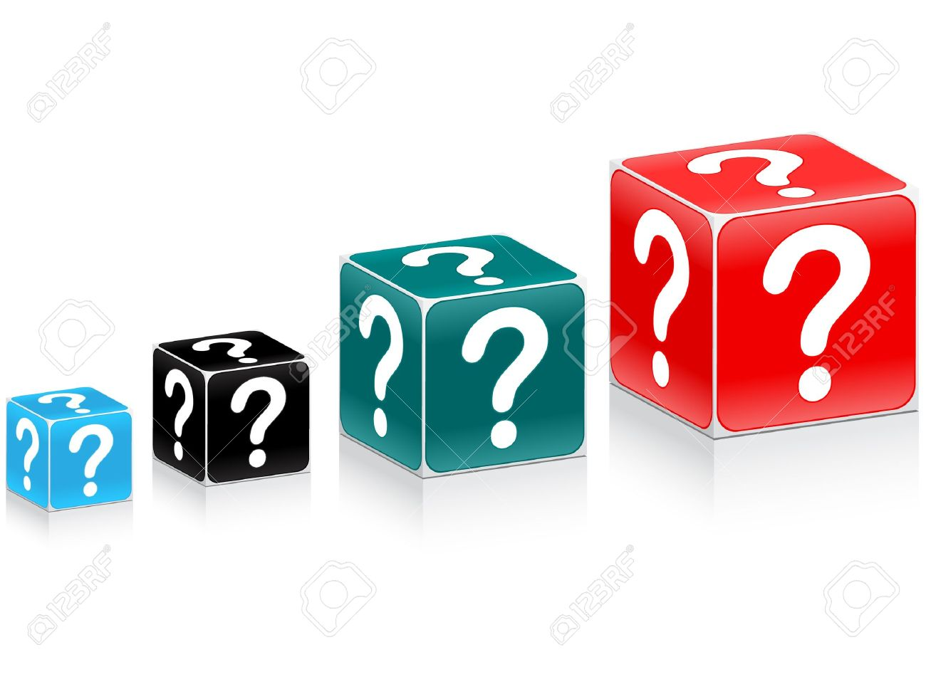 chart made of question box Stock Vector - 10287414