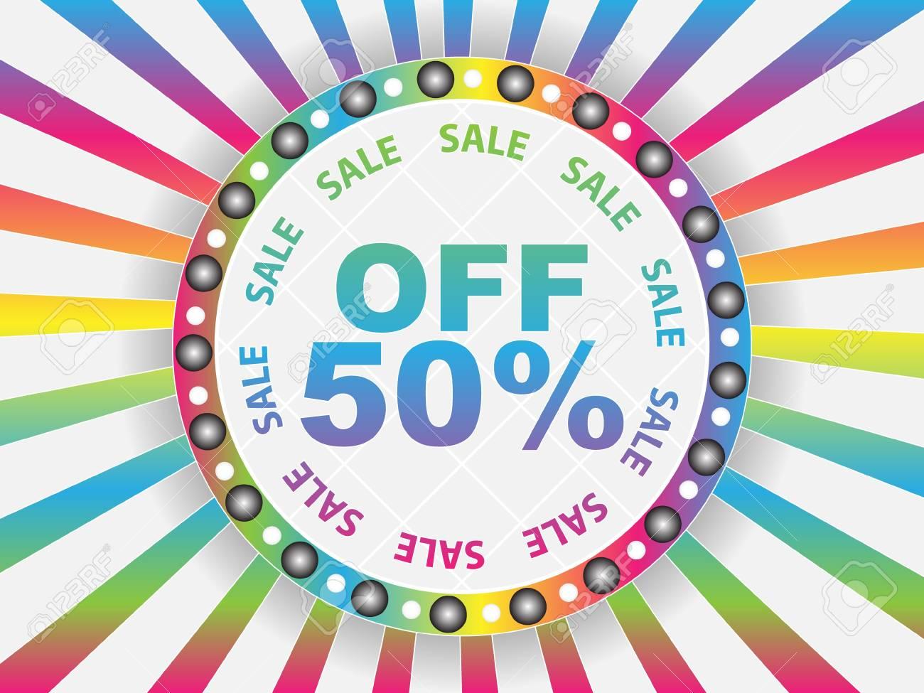 ifty percent discount Stock Vector - 10288079