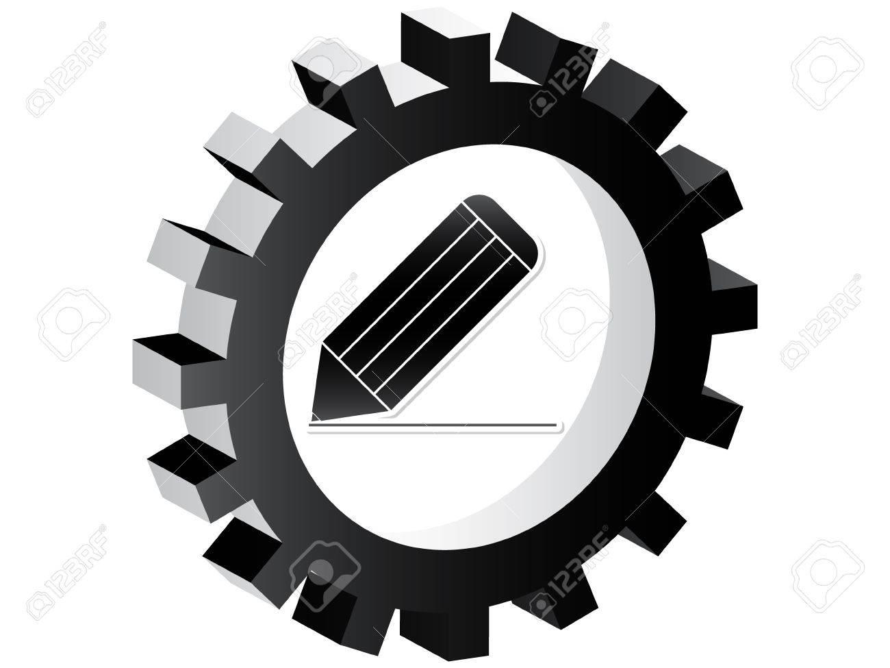 pencil icon Stock Vector - 10450740