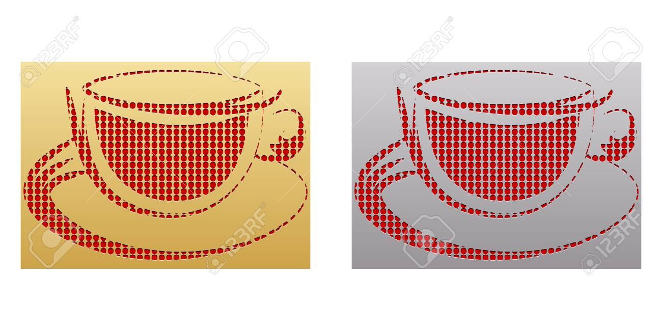coffee cup button Stock Vector - 10451128